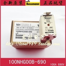 [SA]Original Bussmann series fusibles NH00 100A 100NHG00B-690 690V gL / gG fusibles. 5 unids/lote