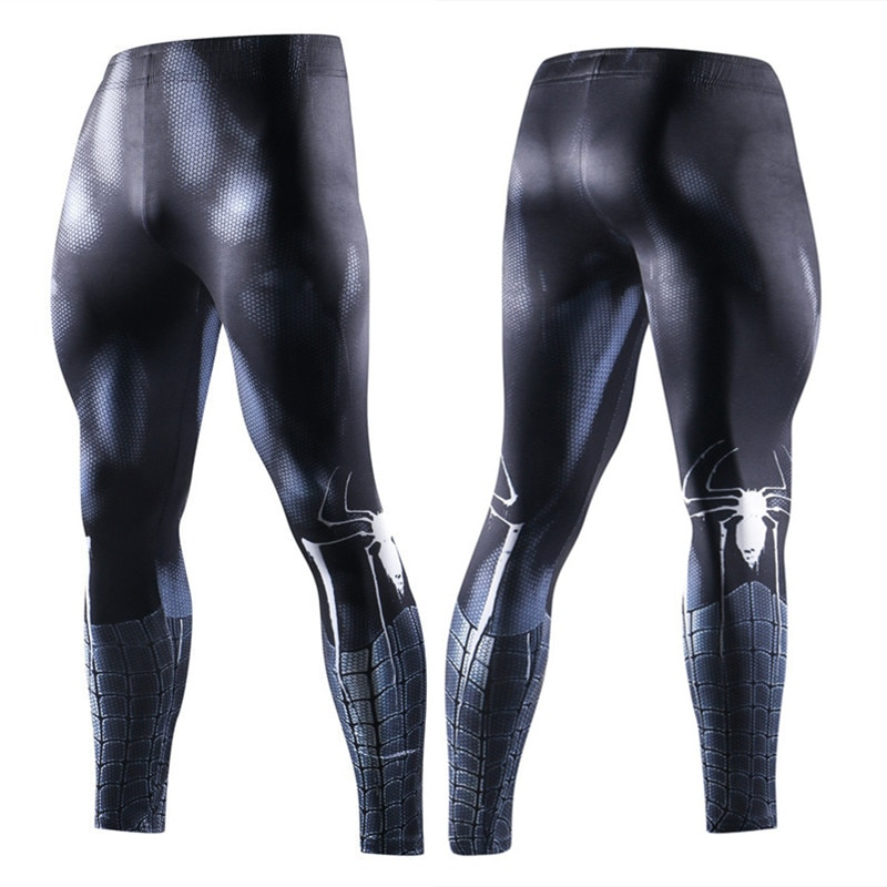 Hombre Araña adultos traje de fitness polainas supe compresión gimnasios pantalones ajustados Hombre Pantalones cosplay diseño streetwear