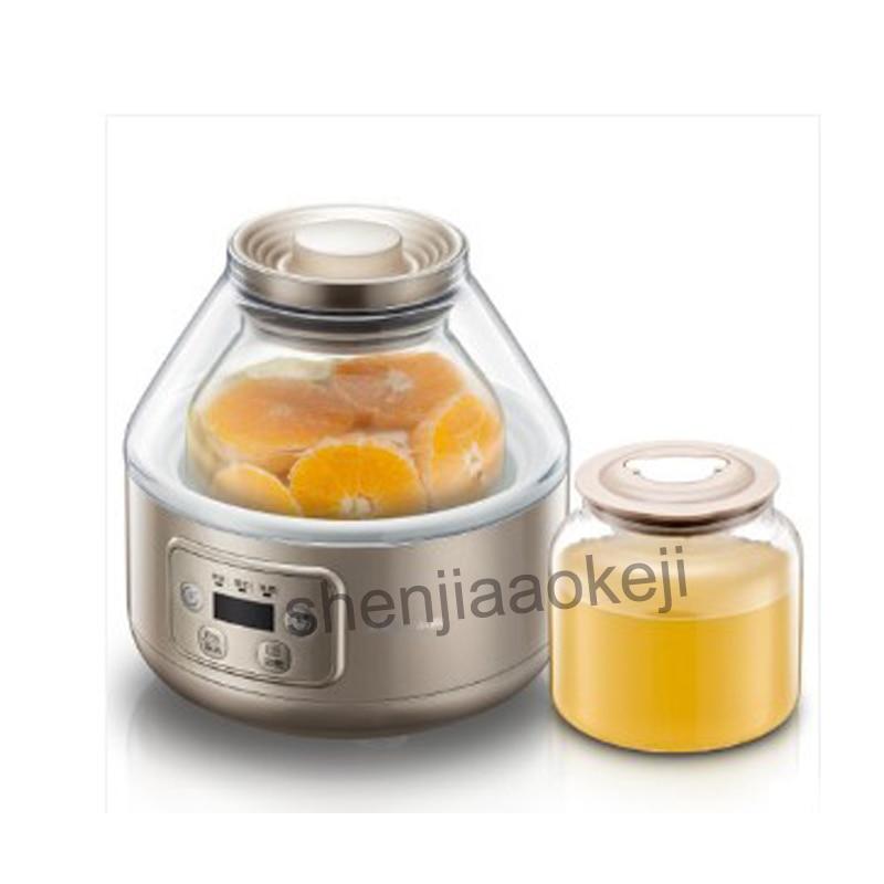 1 unidad de máquina enzimática casera de gran capacidad de 220V 20W SNJ-A20T1 máquina de Yogurt fermentado de fruta automática para el hogar