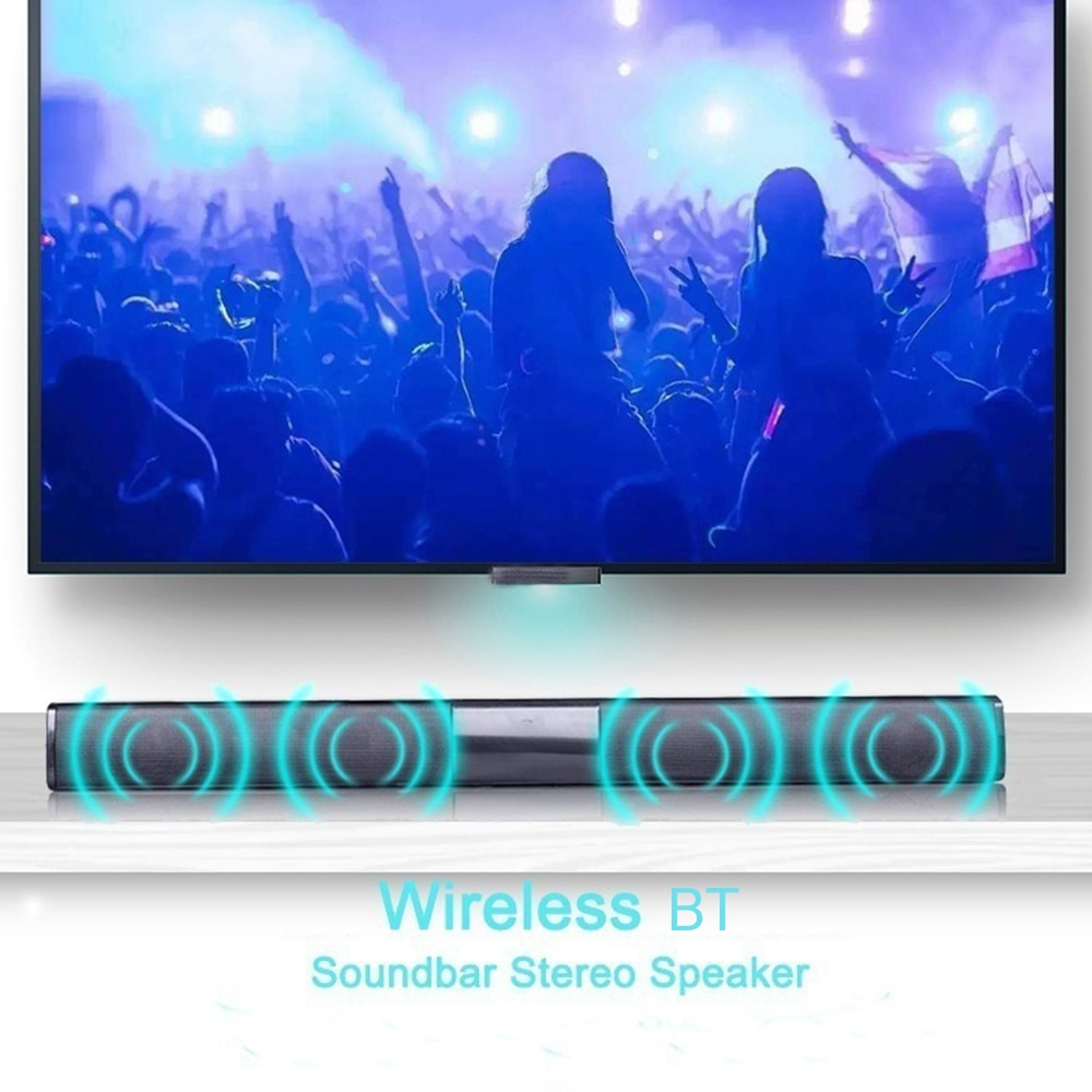 شريط صوت بلوتوث محمول ، مكبر صوت قوي ، موسيقى ثلاثية الأبعاد ، مسرح منزلي ، Aux ، 3.5 مللي متر ، TF ، للتلفزيون والكمبيوتر الشخصي ، 20 واط