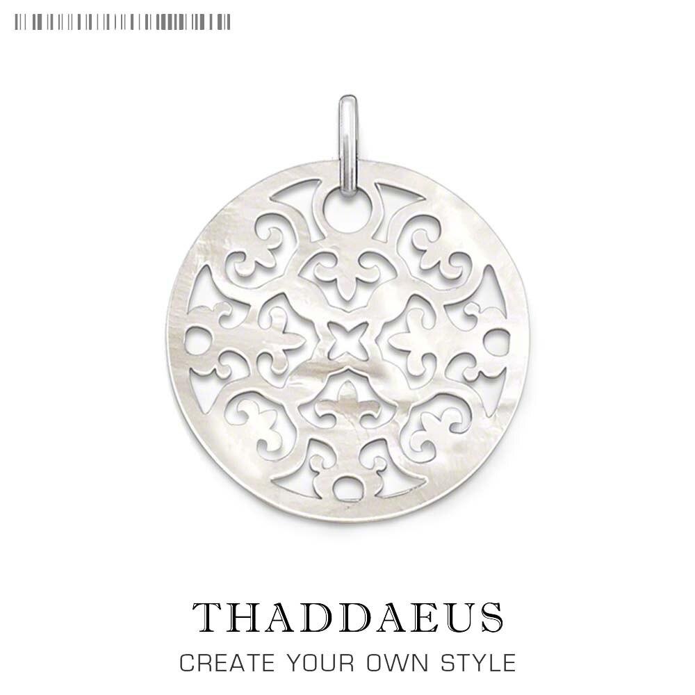 Colgante de conchas de adorno flor, 2019 joyería de moda de amor Thomas 925 Plata de Ley bisutería collar accesorio regalo para mujer Ts