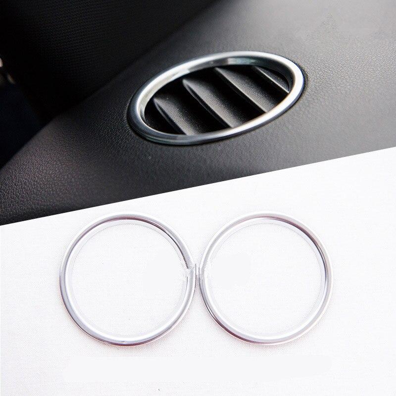 Interior del coche a-pillar moldura de altavoz embellecedor tablero Salida Caja de almacenamiento anillo cubierta para Volkswagen Beetle 2013-2017