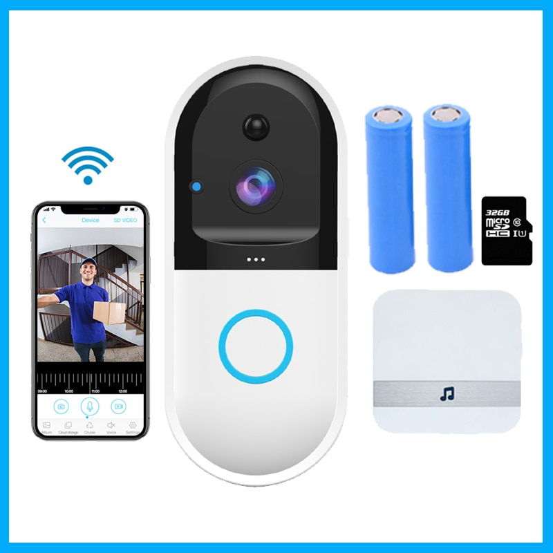 Videoportero inalámbrico B50 con IP inteligente, intercomunicador WI-FI, videoportero, WIFI, timbre, cámara, apartamentos, alarma FIR, cámara de seguridad para el hogar
