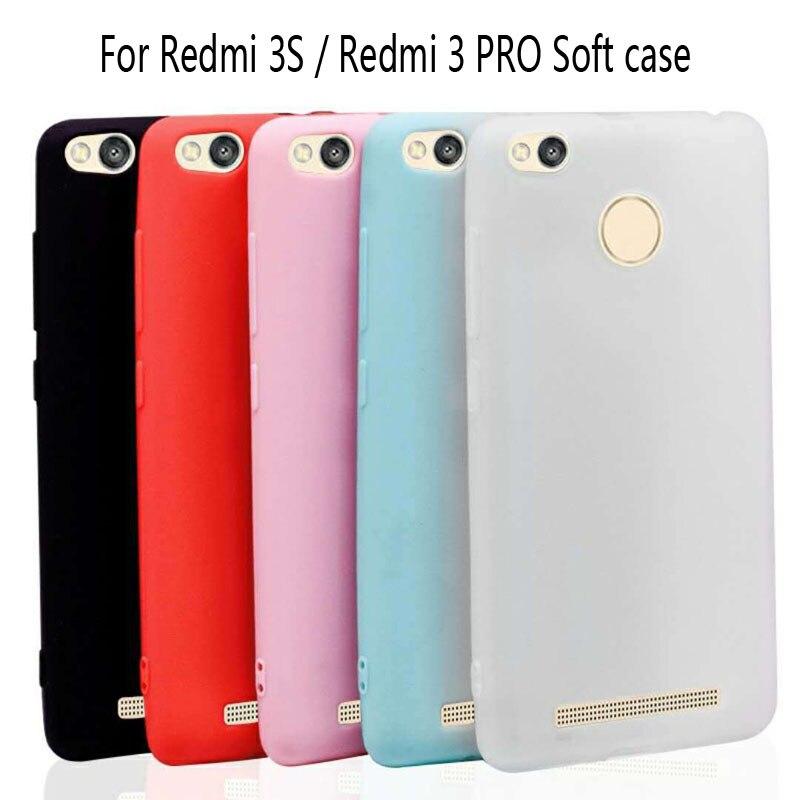 Funda mate de TPU ultrafina para Xiaomi Redmi 3 S 3 Pro funda trasera de silicona suave para Redmi 3 S Pro