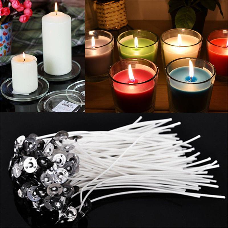 Velas decorativas de algodão 30/unidades/pacote/10cm, velas em drenas de algodão sem fios com pavio de velas preenceradas, feita de algodão material