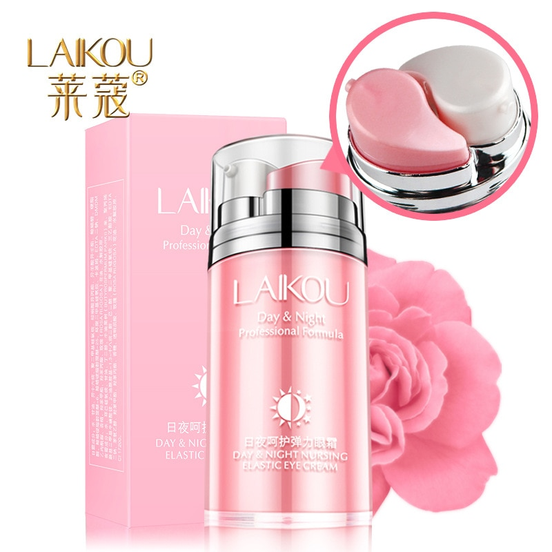 LAIKOU día y ampNight enfermería elástico Eyecream 20g envío gratis aceite esencial de Rosa crema hidratante de noche a black eye fine lin