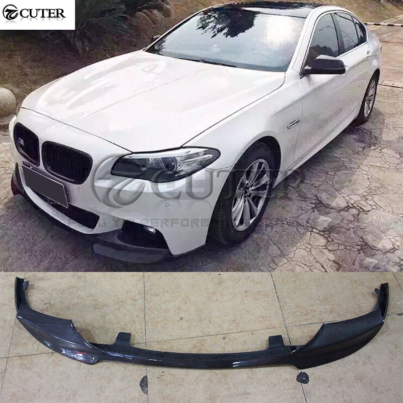Para BMW F10 5 series 525i 530i M5 M-TECH, parachoques de fibra de carbono, parachoques delantero, kit de carrocería de coche 10-17