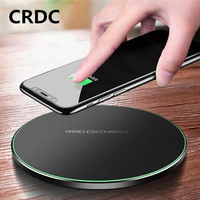 CRDC Qi Беспроводное зарядное устройство 10 Вт QC 3,0 быстрое зарядное устройство для телефона iPhone Samsung Xiaomi Huawei и т. д. беспроводное USB зарядное устройство Pad PK AUKEY
