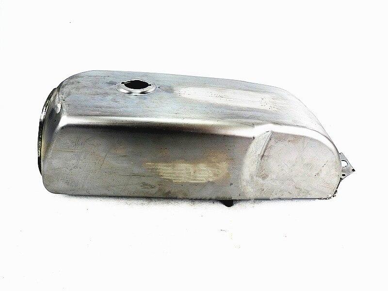 Tanque de combustible de motocicleta DIY, tanque de gasolina de motocicleta retro modificada de Metal crudo de 10 l, tanque de gasolina Vintage para motocicleta