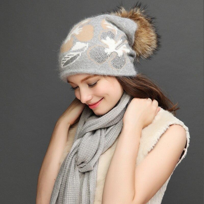 Женский комплект шарфа и шапки Charles Perra, зимние плотные шерстяные вязаные шапки, повседневные модные теплые шапки с помпоном для волос, 2020, но...