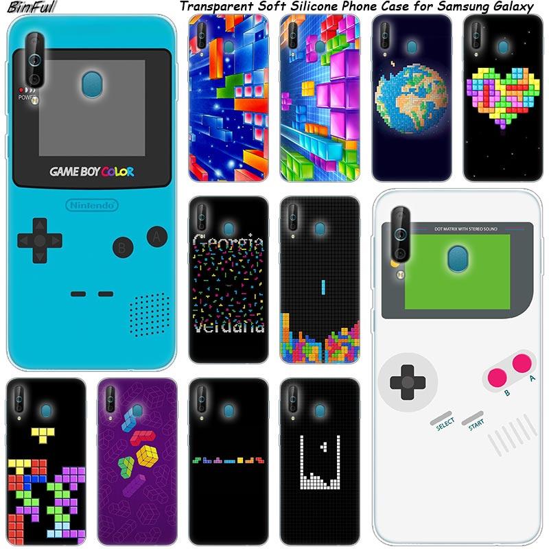 Caliente clásico juegos Tetris del teléfono de silicona funda para Samsung Galaxy A80 A70 A60 A50 A40 A40S A30 A20E A2CORE M40 Nota 10 9 8 5