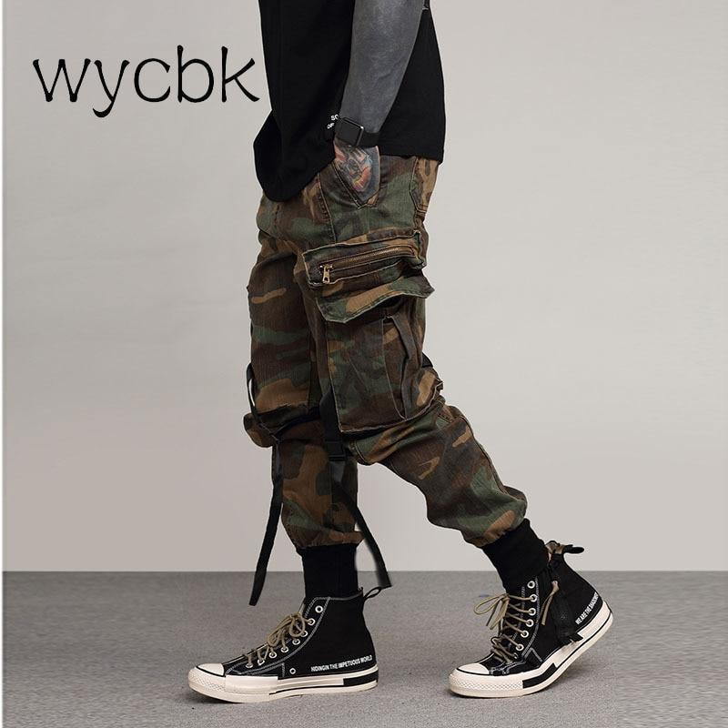 Camo Cargo Pants 2018 pantalones tácticos holgados de moda para hombre Hip Hop Casual algodón Multi bolsillos camuflaje militar Pantalones