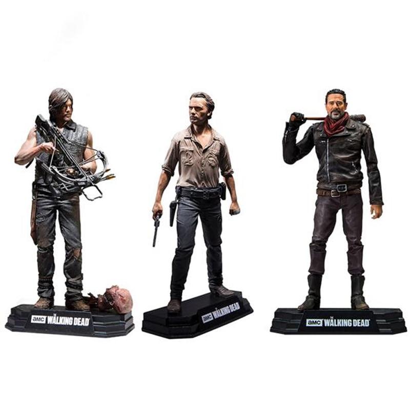 شخصيات فيلم The Walking Dead ، مجسمات حركة PVC قابلة للتحصيل ، ريك ، دارل ، نيجان