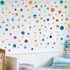 Autocollant mural étoile à pois de couleur arc-en-ciel pour chambre d'enfants sparadrap de décoration de maison sparadrap créatifs amovibles en vinyle pour salon DIY bricolage
