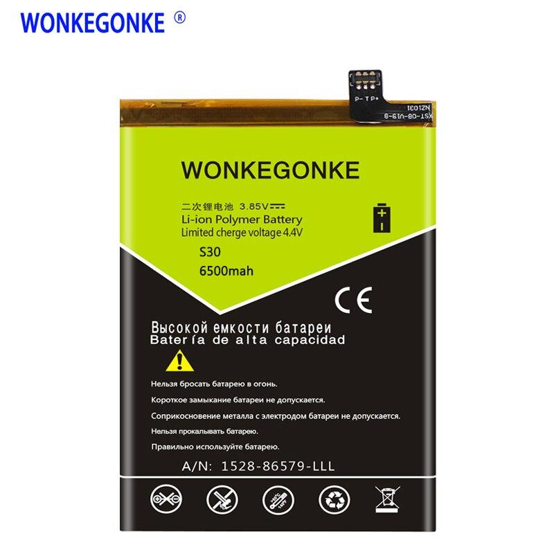 Batería WONKEGONKE 6500 mah para Nomu S30 de alta calidad