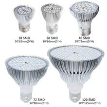 Nieuwe Full Spectrum Led Grow Light E27 18W 30W 50W 80W Led Groeiende Lamp Voor Bloem plant Hydrocultuur Systeem Aquarium Led Verlichting