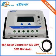 VS4548AU USB VS4548AU   Contrôleur solaire 48V, port double design, écran lcd, système de panneaux solaires PWM 45A avec capteur de température