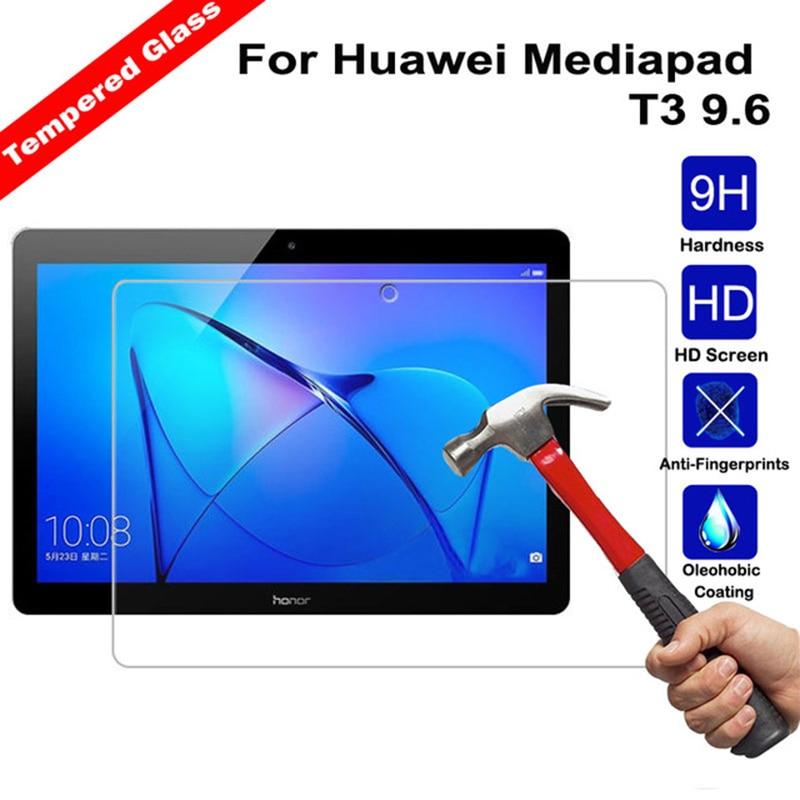 """Templado de vidrio para Huawei Media Pad T3 10 Protector de pantalla de tableta 9,6 """"de vidrio templado de pantalla de la película para AGS-L09"""