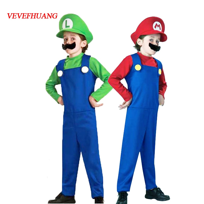 VEVEFHUANG Game Animal Halloween Costumes Funny Super Brother Bros. Children Fantasia Cosplay Jumpsu