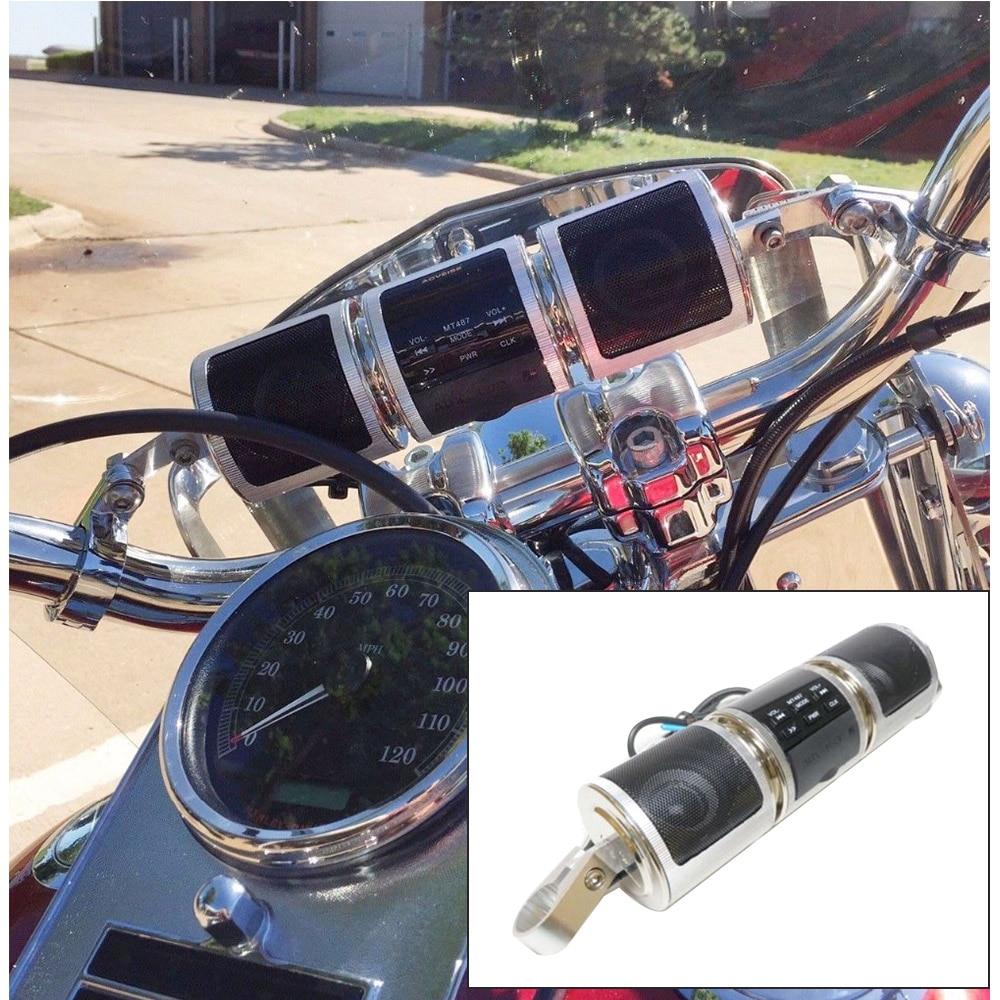 Accesorios de motocicleta impermeable Bluetooth Estéreo MP3 altavoz de radio FM manillar con 8GB para Harley Sportster Softail Bobber