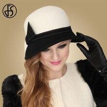 FS chapeaux en laine blanche à large bord   Chapeau Fedora melon pour femmes, Chapeau dété pour femmes, Cloche dhiver dames, Feutre déglise, casquettes