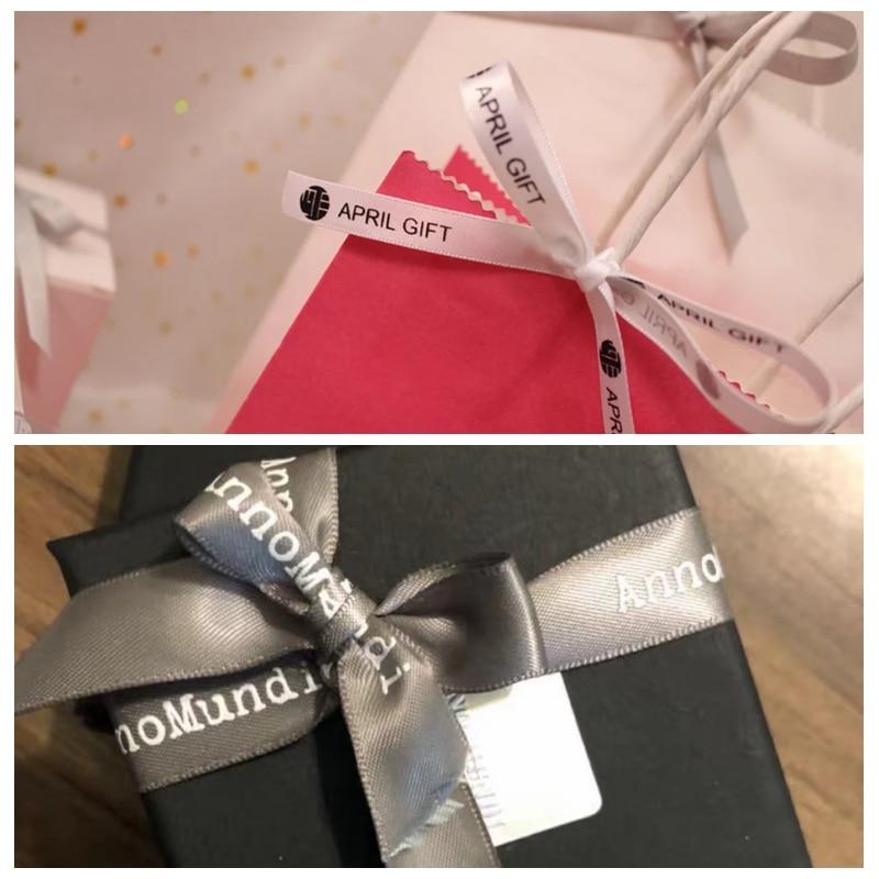 100 yardas DIY Candy regalo embalaje poliéster decoración personalizada nombre cinta boda cumpleaños invitados favores y regalos personalizados