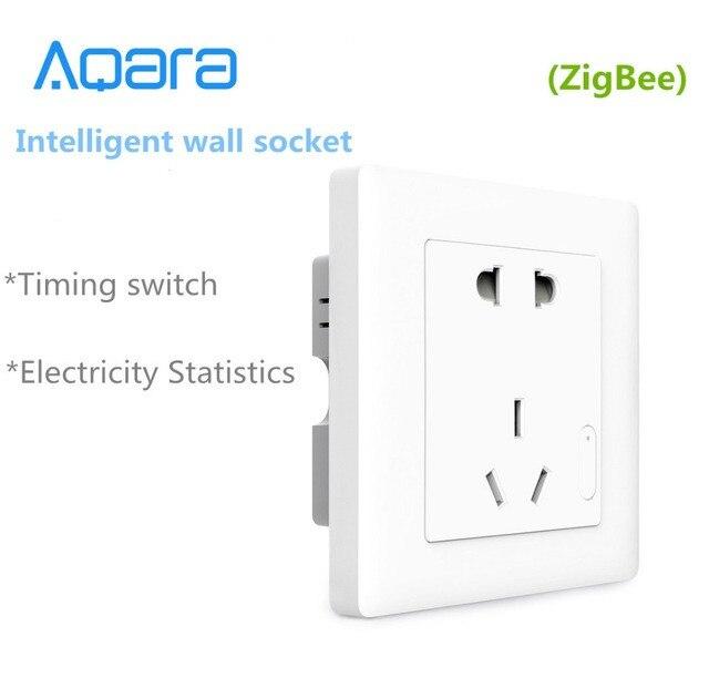 New Aqara Smart wall Socket,ZigBee wifi Remotel Control Wireless Switch Work for Smart home kits APP