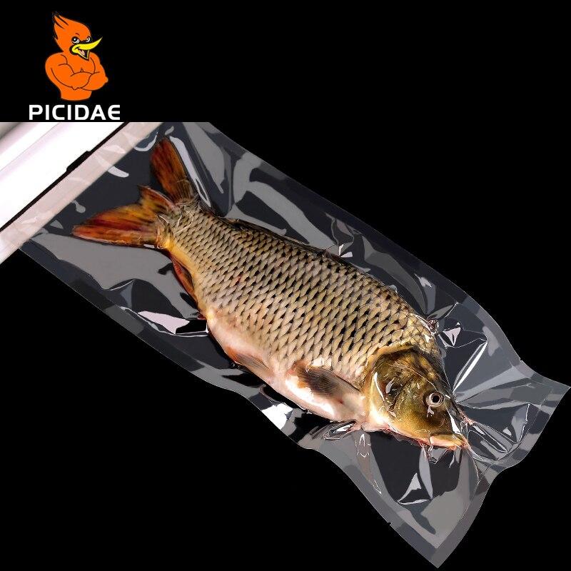 0,16mm un grado de vacío claro Comida cocinada Saver bolsas de embalaje de carne aperitivos té almacenamiento hermético de sellado de calor de paquete de plástico bolsa