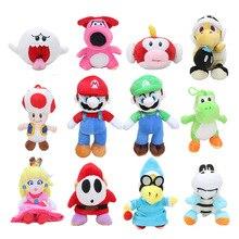 15 cm-25 cm Super Mario Bros Luigi timide Guy Birdo Boo poisson volant Kamek pêche Yoshi champignon peluche poupées en peluche