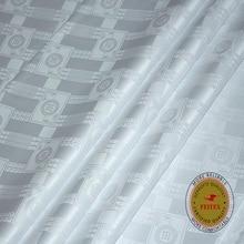 Bazin-Tissu Riche africain Original   Similaire aux Getzners, nouvelle Brocade blanche 2020, Tissu Feitex 100% coton