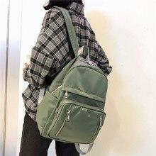 DCIMOR Wasserdichte Nylon Zurück pack mit vertikale zipper Frauen Rucksack Weibliche Schul für Teenager Mädchen Mochilas Reisetaschen