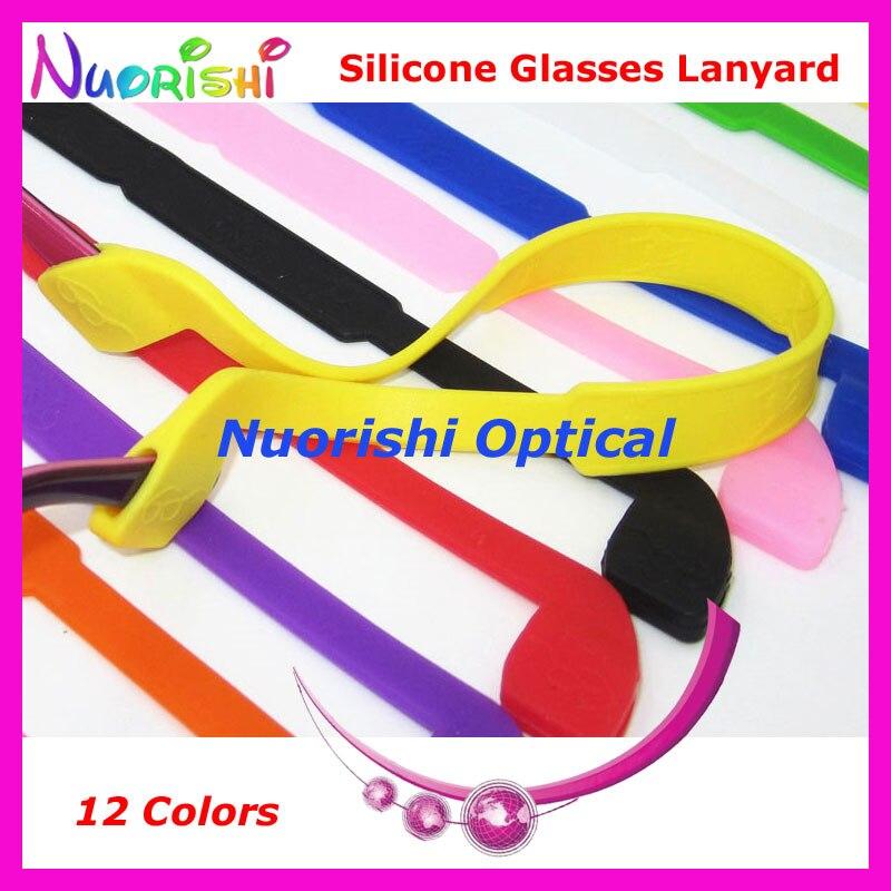 20 pcs L605 12 cores de alta qualidade elasticidade Silicone Anti Slip óculos óculos óculos de cordas corda frete grátis