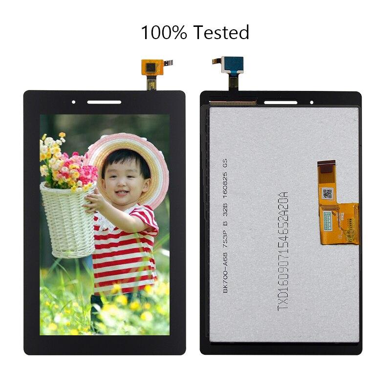 Para Lenovo TAB 3 710L 710i 710F Tab3-710 TB3-710L TB3-710i TB3-710F TB3-710 Digitalizador de pantalla táctil pantalla Lcd Asamblea