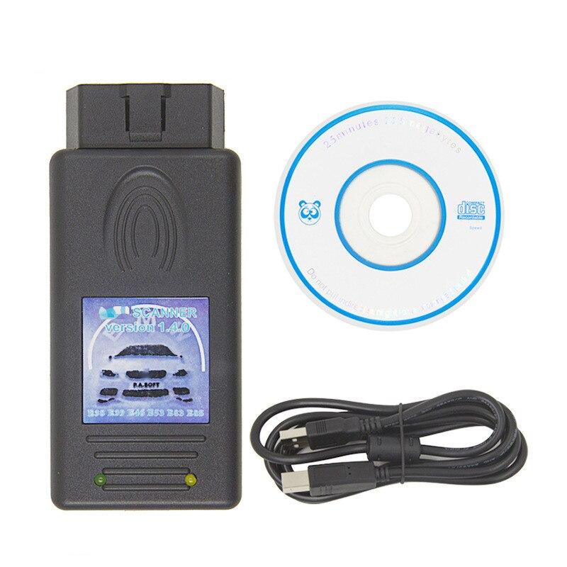 Scanner automático v1.4.0 voor para bmw desbloquear versie voor para bmw scanner 1.4.0 kan uitvoeren ike/lcm/ews scannen diagnosticar voertuigen