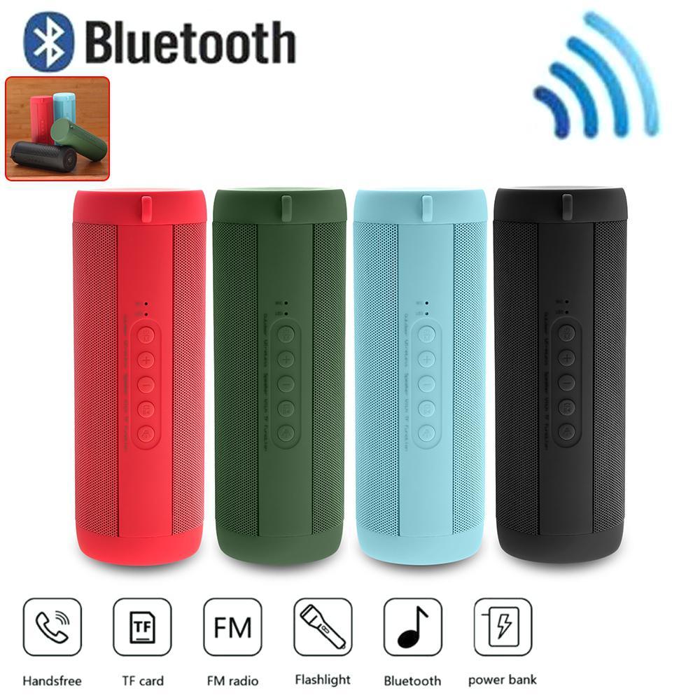 TWISTER.CK Bluetooth Music Bass Speaker Waterproof Portable Outdoor LED Wireless Loudspeaker Support TF Card FM Radio Aux Input