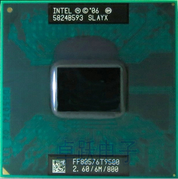 Free Shipping intel CPU laptop Core 2 Duo T9500 CPU 6M Cache/2.6GHz/800/Dual-Core Socket 479Laptop processor for GM45 PM45
