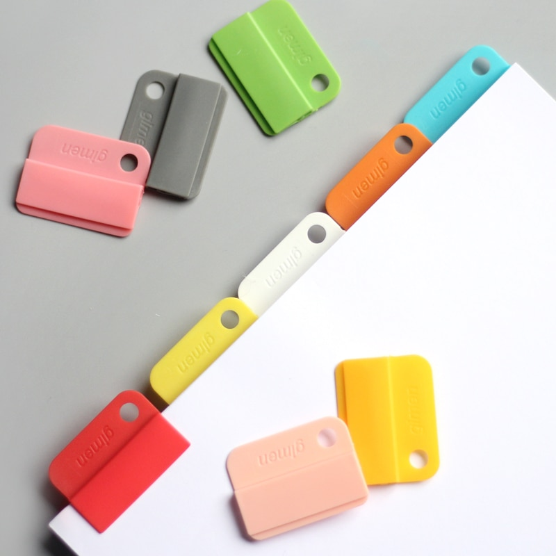 6 unids/set arco iris de color índice Carpeta de grifo separadores de índice Clips de papel para Notebook Oficina escuela marcapáginas