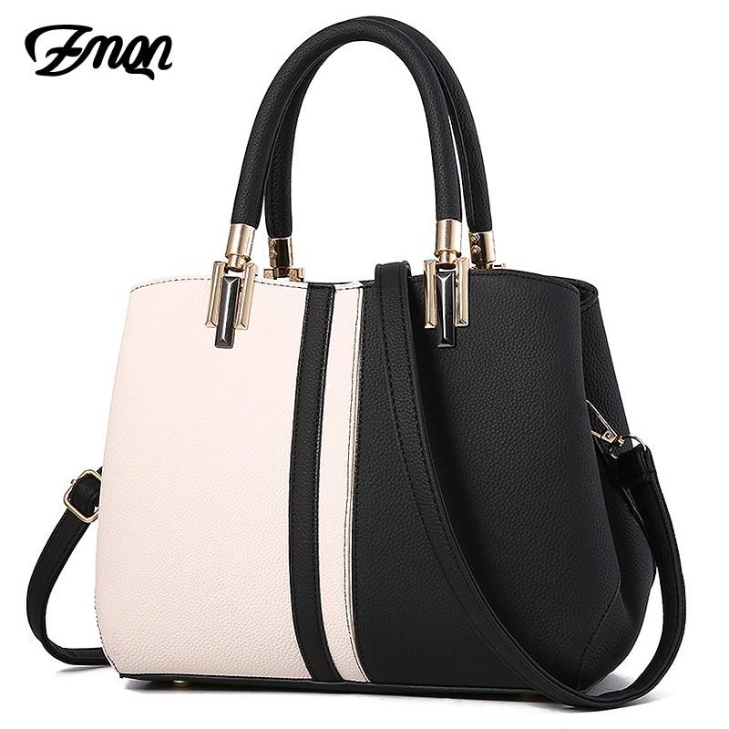 ZMQN, bolsos de mano para mujer, bolsos de lujo para mujer, bolsos de cuero de diseñador para 2020, bolso con paneles de moda, mujer, Kabelka A709
