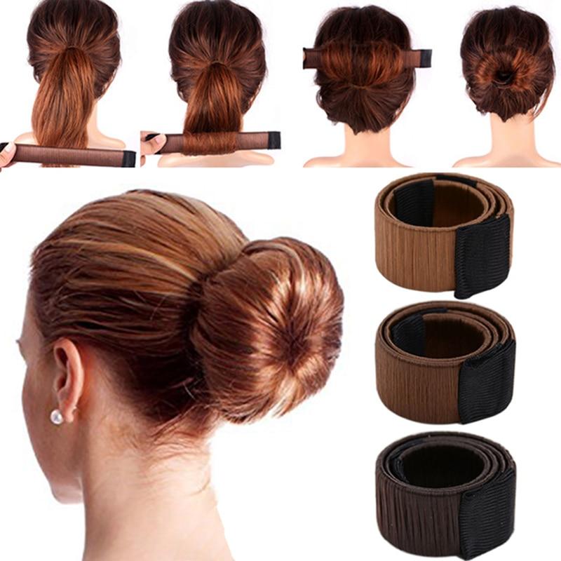 Synthetic Wig Donut Headband Girls Magic Hair Bun Maker Women Hair Accessories DIY Hairstyle Tool French Dish Bud Twist Hair Ban