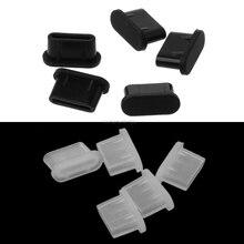 5 pièces type-c prise anti-poussière USB Port de charge protecteur Silicone couverture pour Samsung Huawei accessoires de téléphone intelligent