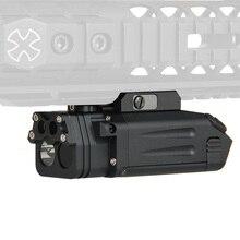 Tactical DBAL-PL type light white LED 400 Lumens Flashlight With Red Laser IR LED illuminator /visible laser pointer GZ150087