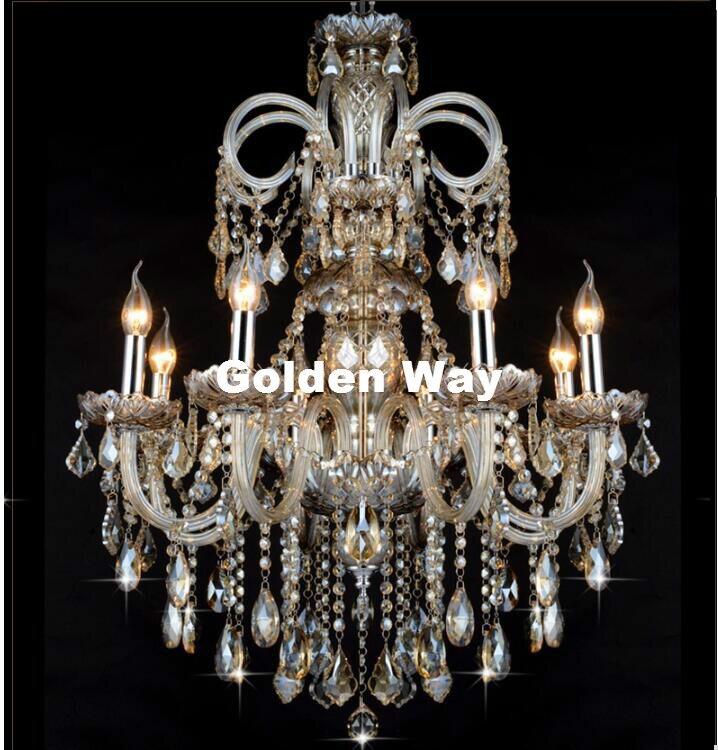 شحن مجاني كونياك الثريا الكريستال تركيبات الإضاءة الزجاج فندق كريستال الإضاءة مصباح الدرج AC طويل الثريا ضوء