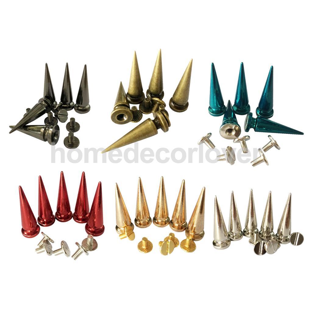 10 Uds. Perno de rosca de cono de cobre, zapatos con tachuelas artesanales de cuero para decoración de ropa
