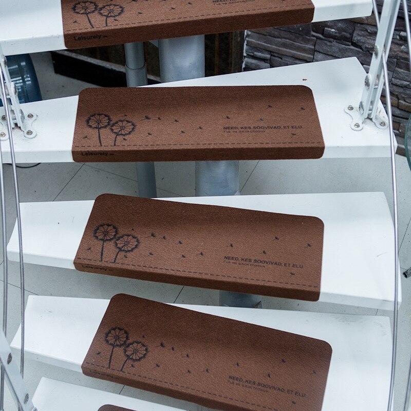 SunnyRain 13-Piece alfombra de escalera de instalación libre autoadhesiva peldaños de escalera alfombra antideslizante de escalera alfombra para zonas de paso 55x22cm