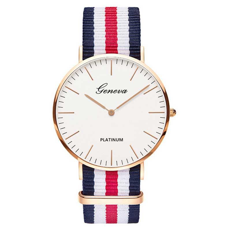 Offre spéciale en Nylon bracelet Style Quartz femmes montre hommes montre mode décontracté unisexe montres amoureux montre-bracelet horloges vrouwen montre