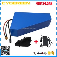 1000W 48V 24.5AH Lithium battery 2000W 48V 25AH ebike battery 48 V Triangle use samsung 3500mah cell 30A / 50A BMS With bag