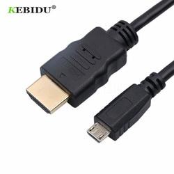Kebidu alta qualidade 5pin micro cabo usb 1080p hdtv adaptador para samsung galaxy note 3 s2 s3 s4 s5 para htc lg sony 1.5m