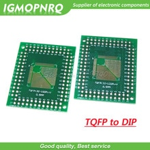 5 pièces FQFP TQFP QFP 32 44 64 80 100 LQFP à DIP carte de transfert DIP adaptateur de pas de carte de broche QFP32 QFP4 QFP64 QFP80 QFP100 à DIP
