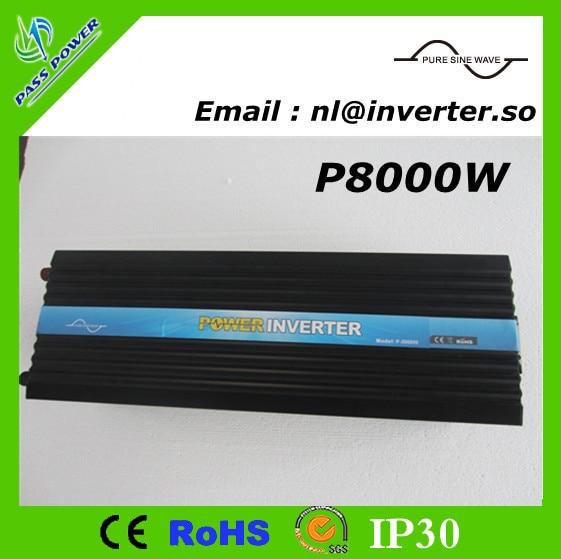 CE, RoHS, GV Aprovado, Pure Sine Wave Power inverter 8000 W 48 v 220 v
