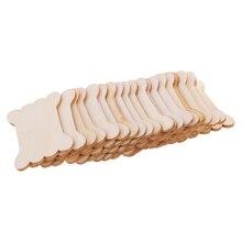 100 Pieces Wood Thread Floss Bobbins Ribbon Twine Reel Organizer